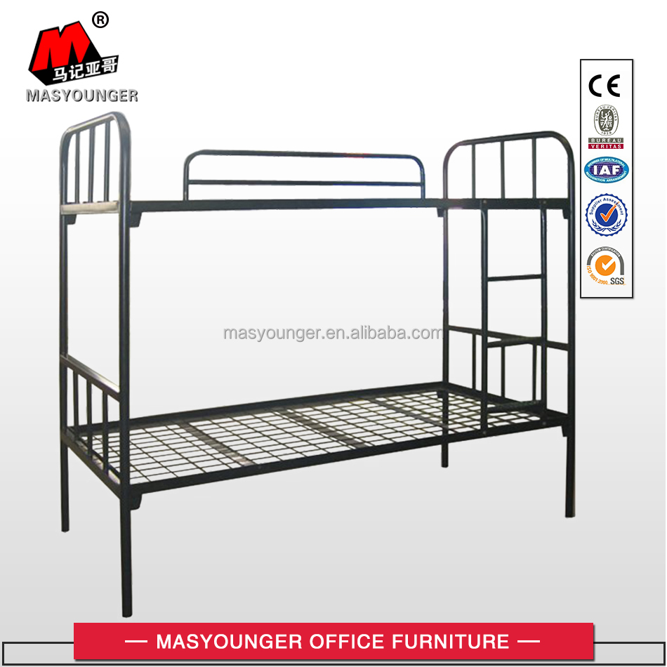 KD structure metal mesh plate school bunk bed
