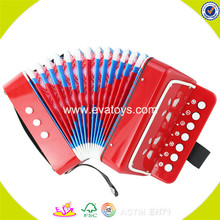 Wholesale top quality toddlers wooden toy accordion professional children wooden piano accordion W07K006A