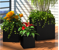pe rattan flower pots ,pe rattan garden furniture