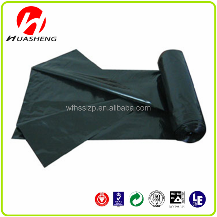 Qingdao manufacture PE Plastic garbage wast refuse bags on roll with custom printe