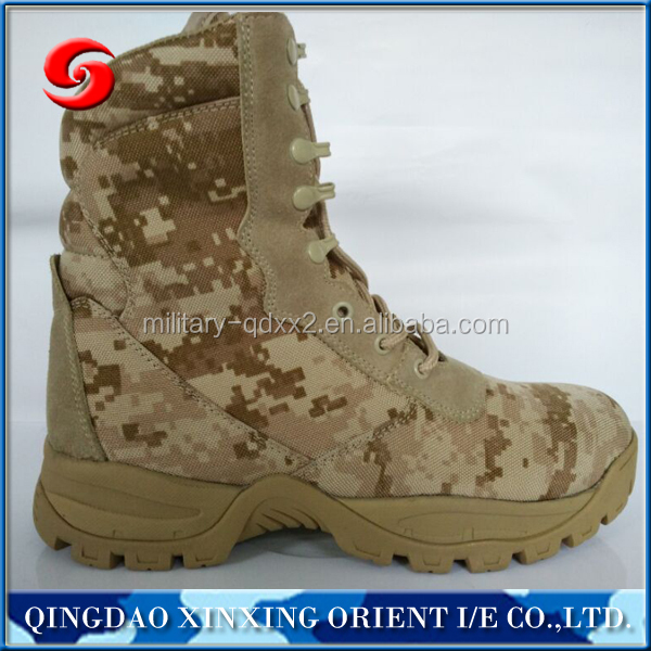 Tan camouflage boots
