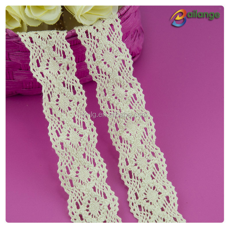 wholesale Chemical Procuct type lace 100% cotton lace cotton embroidery net lace fabric