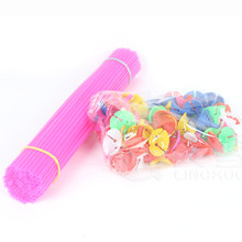 Multi Colour plastic balloon stick and holder for latex balloon decoration