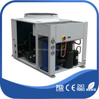 Air water cooled air top discharge dip chiller