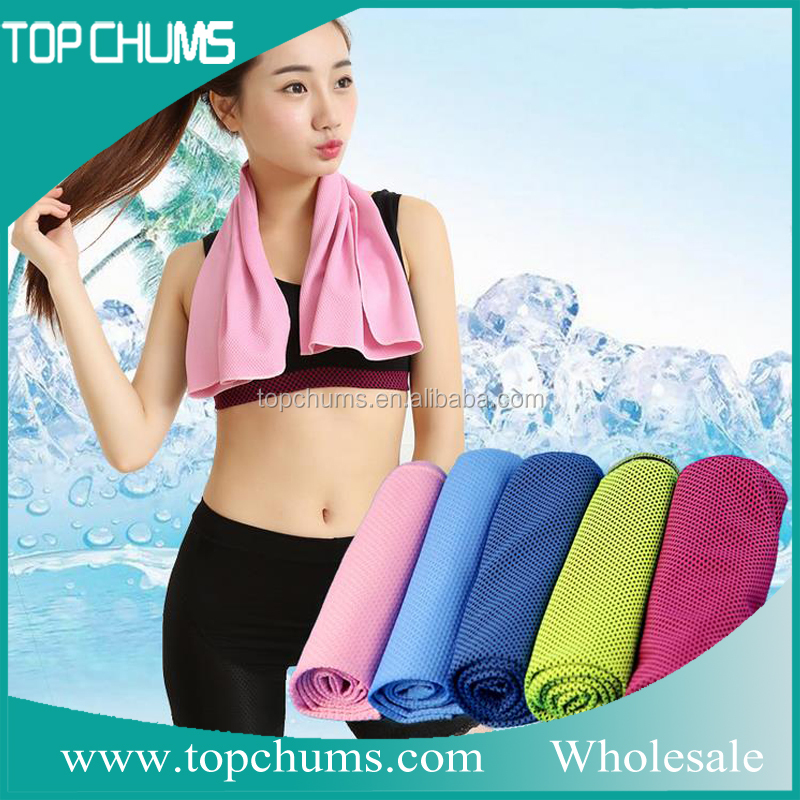 100% polyester sports magic gift custom PVA instant ice cooling gym towel