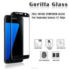 Hot!new material full cover cell phone tempered glass screen protector for Samsung galaxy s7 edge
