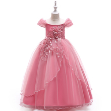 Wholesale Kids Wedding Event Ball Gown Fancy Princess Frock Beautiful <strong>Girl</strong> Party <strong>Dress</strong> LP-213