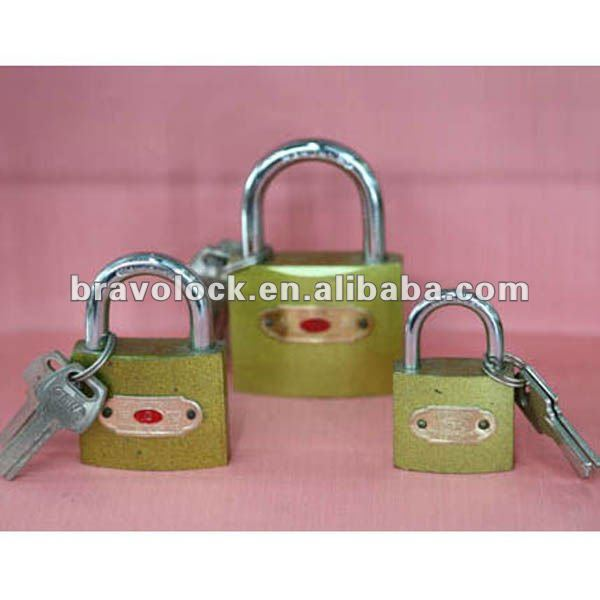 copper iminated club padlock with computer keys