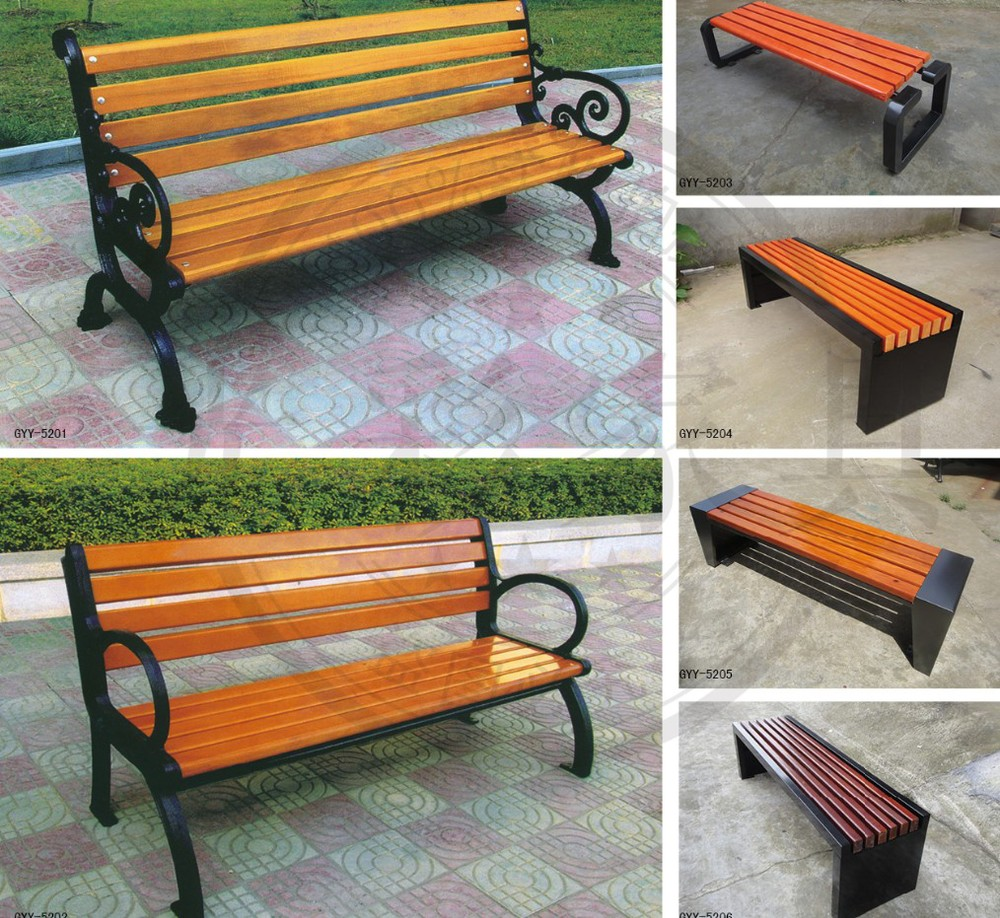 Wpc Public Street Wooden Long Bench Chair - Buy Wooden Long Bench ...