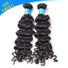 KBL fashion hair styling 5a brazilian deep wave hair weaving popular in US