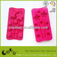 silicone ice cube tray star shape ice cube tray star with stick