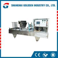 Low price cup jelly filling sealing machine,cup water packing machine.cup filler sealer