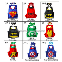 Customized Superhero Capes Mask Set Cheap Mask and Cape Set