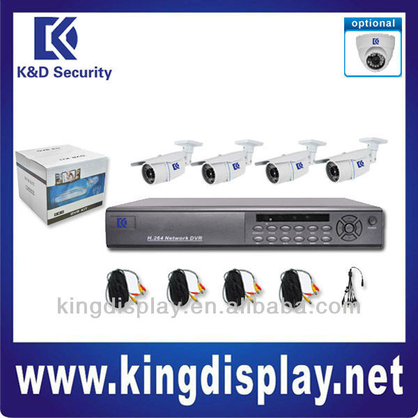 excellent k&d h264 standalone security surveillance network 4ch dvr kits with 850tvl cmos camera