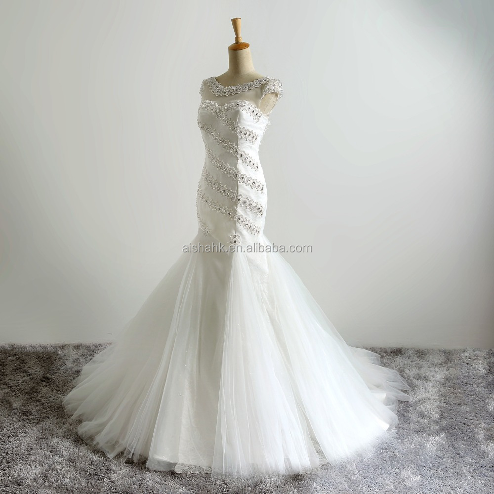 Ai302 2016 fashion sexy gauze long wedding dress buy for Long straight wedding dresses