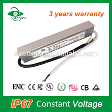 3-5years warrenty ip67 constant voltage dimmable led driver 100w constant voltage led strip
