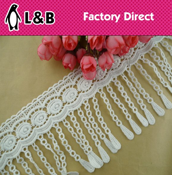 Tassels lace,fringe lace trims, natural cotton thread lace