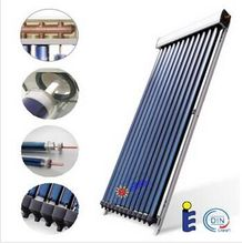 best price 2016 new copper heat pipe vacuum tube pressurized solar collector with new design manifold for split solar system