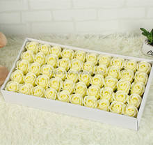 Factory direct artificial wedding flowers with light ivory color soap flower