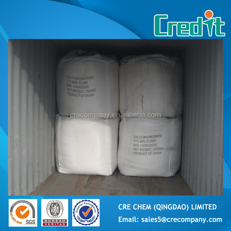Hot Sale high quality Road Salt/Cement Antifreeze Agent Calcium Chloride 77% Flake