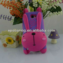 Running rabbit silicone case for Samsung Galaxy note II N7100