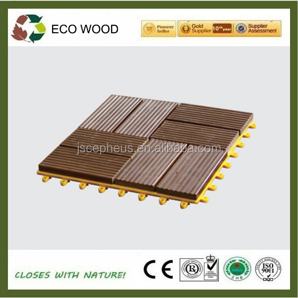 WPC Interlocking outdoor Decking Tiles Hollow DIY