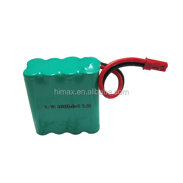OEM/ODM batteries nimh aaa 9.6v 800mah rechargeable battery pack /Ni-mh 9.6volt 800mah