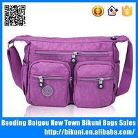 Waterproof nylon diaper bag manufacture custom adult messenger diaper bag
