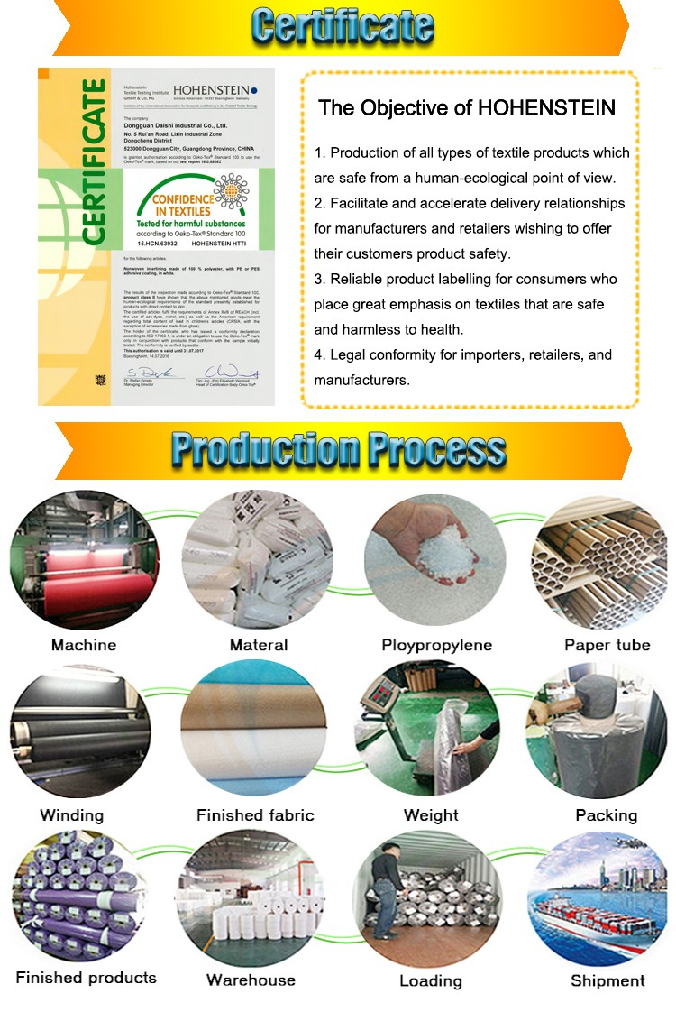 Factory 1025E recycle nonwoven interlining fabric tear away paper 100% cotton backing