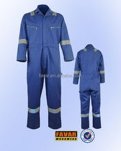 high visibility reflective overalls / flame retardant workwear