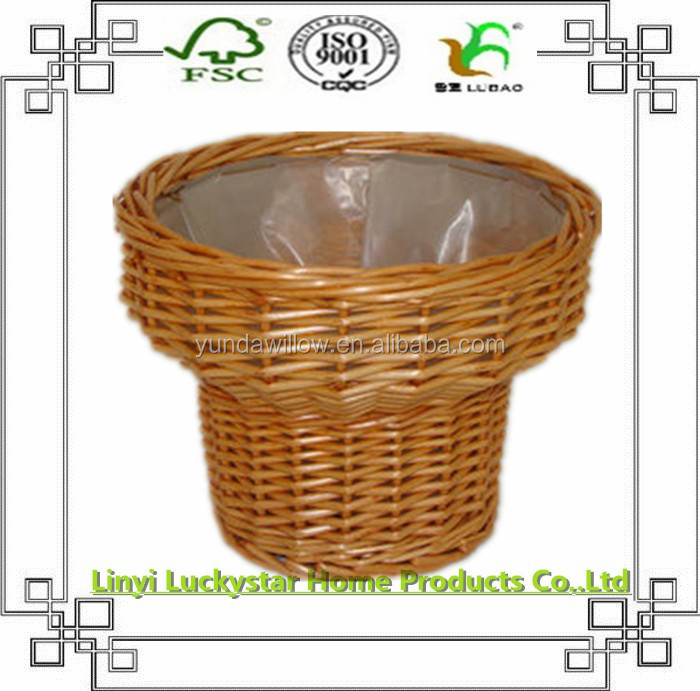 wicker garden outdoor plant basket