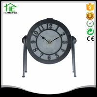 promotion old fashion electric led table clock design