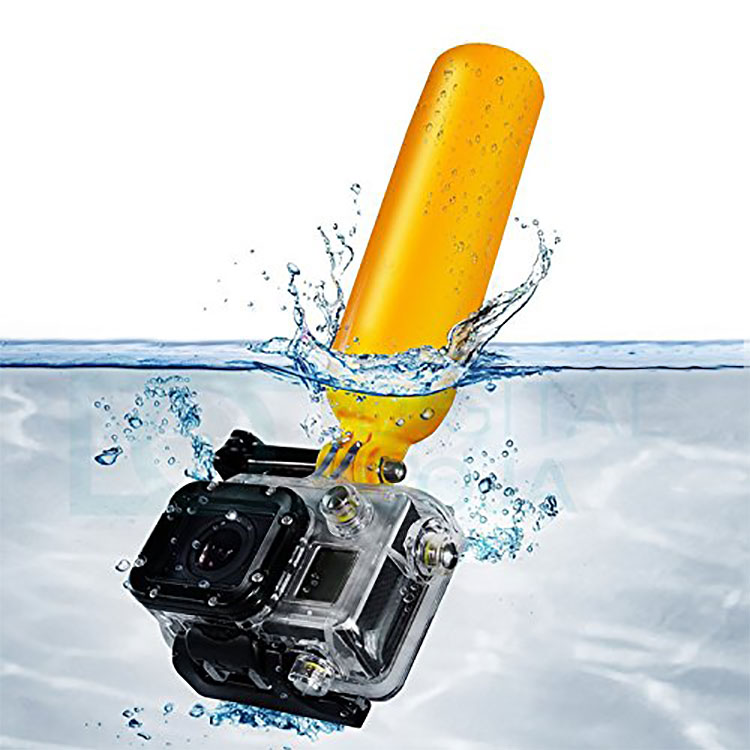 Professional Diving Arm Rods Pole Bobber Yellow Floating Hand Grip for Camera