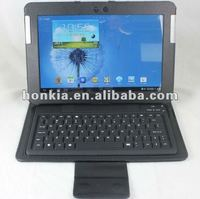 Newest Bluetooth Leater Keyboard Case for galaxy Note 2 (N8000, N8010)