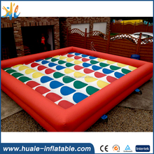 Funny giant twister game mat, inflatable twister game for sale