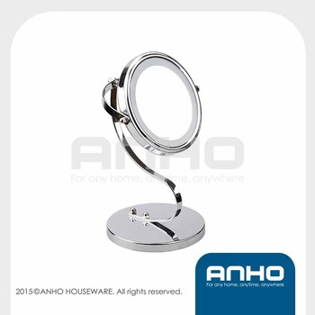 LED Cosmetic Mirror, Single-sided lighted mirror, S shape makeup mirror