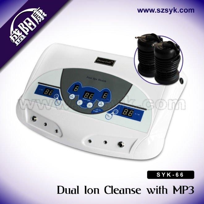 New Dual Spa Ion Cell Detox Foot Bath Aqua Cleanse Mp3