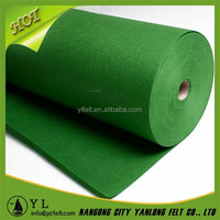 Recycled material synthetic industrial felt fabric