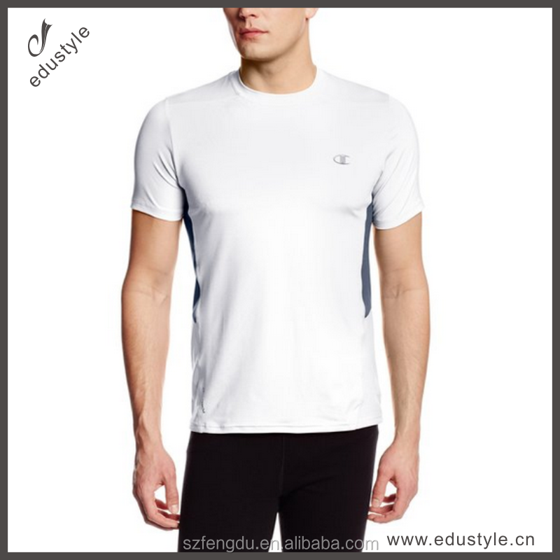 custom embroider gym tshirt 100% polyester tshirt
