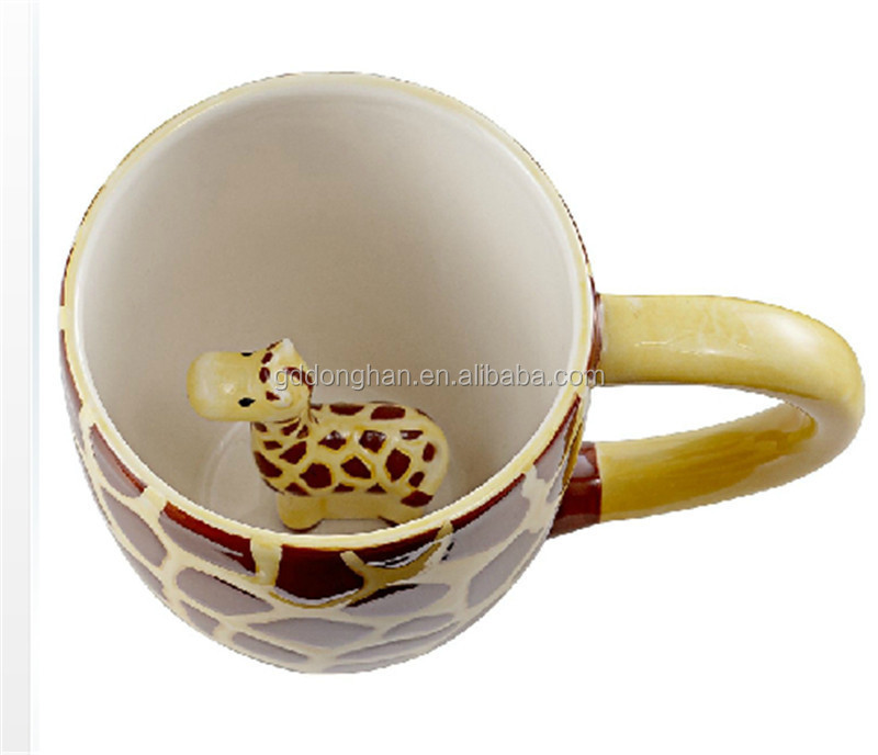 funny creative ceramic giraffe coffee mug