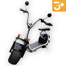 EEC 2017 Harley citycoco 1500w electric scooter with big wheels front fork