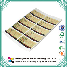 New design beautiful cheap glossy water resistant sticker paper wholesale