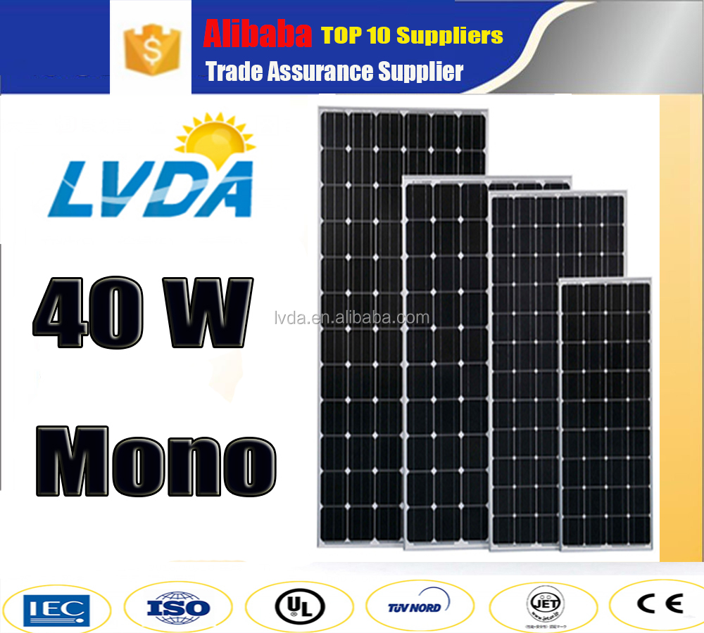 Germany technology European market 40w mono solar panel 36cells Best price per watt solar panel in dubai
