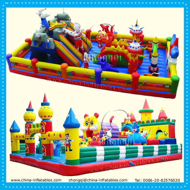 Funny giant inflatable park castle for sale