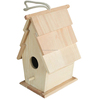 2016 Wholesale Eco-friendly unfinished Small Wood Crafts Wooden bird house