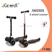 PU 3 wheel plastic nylon deck aluminum folding stand up scooters for sale