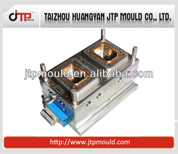 plastic food container mould with 2cavity in a machine