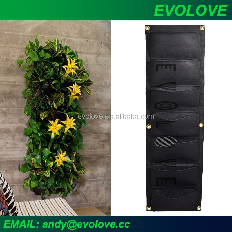 Flora felt fabric green wall planter vertical garden