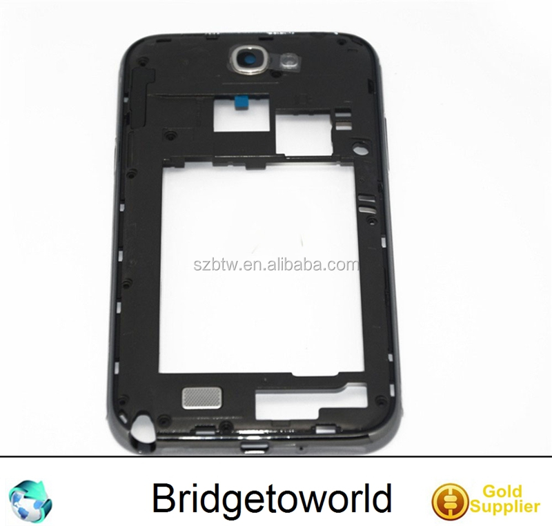 For Samsung For Galaxy Note 2 N7100 Middle Housing Bezel Frame Midplate Camera glass lens cover