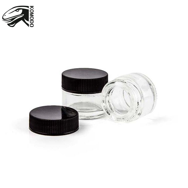 Transparent Concentrated Container 5ml no-stick Dab Container 5ml Dab Glass Jar with Child Proof Lid